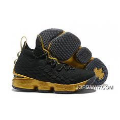 60ed2303cea6 LeBron James Nike LeBron 15 Mens Basketball Shoes Black Gold NBA Finals  Game 4 Copuon
