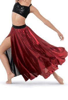 9083a1d7b63e Gem Slinky Metallic Slit Front Maxi | Balera™ Lyrical Dance, Ballet Dance,  Dance
