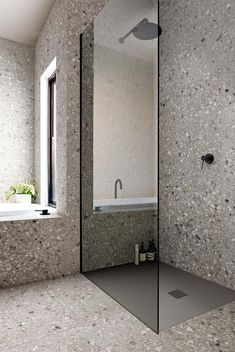 Wonderful 33 Adorable Minimalist Small Bathroom Design Ideas Bathroom design has been an essential factor in modern homes. It can be attributed to the importance of a bathroom in anyone's home. Not only is it essential, b. Modern Bathroom Design, Bathroom Interior Design, Interior Decorating, Bathroom Designs, Bad Inspiration, Bathroom Inspiration, Minimalist Small Bathrooms, Ceramic Tile Bathrooms, Tadelakt
