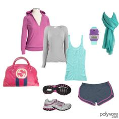 Running clothes! Minus the purse...