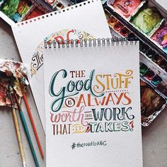 A compilation of watercolor lettering work from July to October 2015 for various projects and personal endeavors. Watercolor Hand Lettering, Brush Lettering Quotes, Hand Lettering Quotes, Creative Lettering, Lettering Design, Lettering Styles, How To Write Calligraphy, Calligraphy Letters, Typography Letters