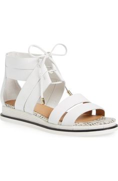 CALVIN KLEIN 'Caterina' Demi Wedge Gladiator Sandal (Women). #calvinklein #shoes #sandals