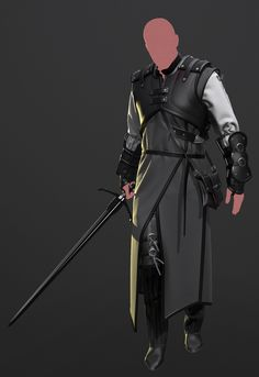 A few things that have come about whilst teaching myself Marvelous Designer recently. Everythings been created within MD except the swords. I'm including images of the patterns just in case they could be of help to anyone.  Design of the armour heavily inspired by playing the Witcher recently and also thanks to Colin Thomas, whose rigged base mesh I used for a few of these as a base for draping.
