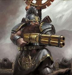 Dwarves are naturally methodical and slow to panic; and so are suited to reloading and firing both weapons calmly, even when the enemy is right on top of them. The competition between various engineers is such that in the efforts to make increasingly better and more reliable weapons Dwarf Handguns have become the most effective weapons of their type in the world. Most Thunderers have crafted their own weapons and over the years add many augmentations and improvements.