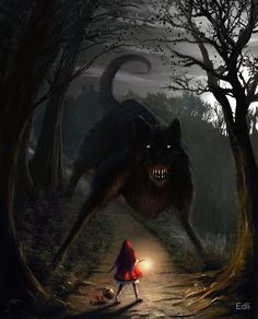 Big bad wolf by Edli