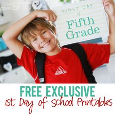 FREE- Exclusive 1st day of School Printables! LOVE these! Can't wait to use them with my kids this year!