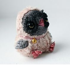 tiny owl by da-bu-di-bu-da on DeviantArt Toy Art, Teddy Toys, Needle Felted, Cute Monsters, Paperclay, Biscuit, Doll Repaint, Polymer Clay Art, Animal Sculptures
