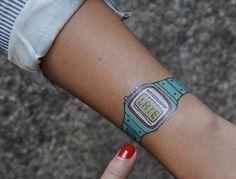 watch, late, funny tattoo