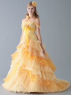 Yellow Wedding Dress - keep in mind, this dress can be produced in any color. Check the color chart here: http://www.weddingdressfantasy.com/Articles.asp?ID=144