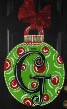 Burlap Christmas Door Hanger Christmas ornament hanger $45