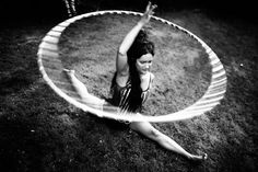 A woman in Denmark performs with a Hula-Hoop in this National Geographic, 24/08/2016