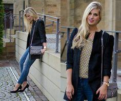 Rebecca Minkoff Bag, Zara Jeans, Peter Kaiser Heels, Zara Top, Zara Coat, Michael Kors Watch