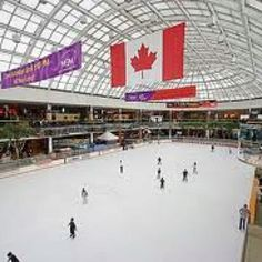 West Edmonton Mall-skating rink Oh The Places You'll Go, Places To Travel, Places Ive Been, Travel Stuff, Canada Eh, Western Canada, Newfoundland And Labrador, Largest Countries, Alberta Canada