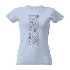 Tričko s potiskem kytka kam se podíváš