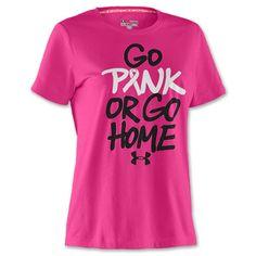 Under Armour PIP Go Pink or Go Home Women's Tee Shirt  FinishLine.com   Cerise