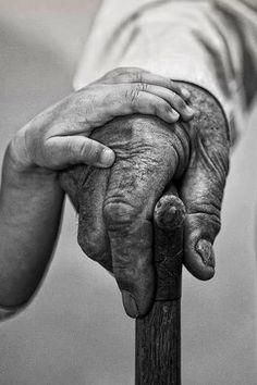 Hands - young and old