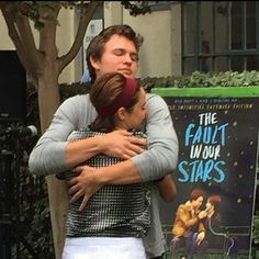 Ansel Elgort and Shailene Woodley I Fall In Love, Falling In Love, John Green Books, Augustus Waters, Ansel Elgort, Tfios, Divergent, Shailene Woodley, The Fault In Our Stars