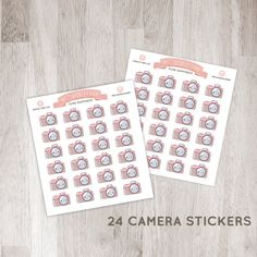 24 Cute Camera Stickers for YOUR planner! | Erin Condren Planner Plum /  Paper Planner