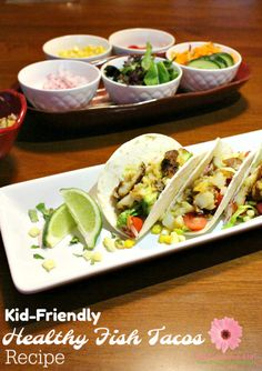 Get your kids to eat healthy food like seafood by serving tasty fish recipes that they will love. You have to try this healthy fish tacos recipe using Alaska cod fish. Trout Recipes, Fried Fish Recipes, Pork Recipes, Seafood Recipes, Drink Recipes, Dinner Recipes Easy Quick, Quick Meals, Easy Recipes, Healthy Foods To Eat