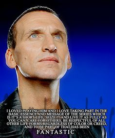 """Christopher Eccleston on being the Doctor"" Except that he wouldn't come back for the anniversary ..."