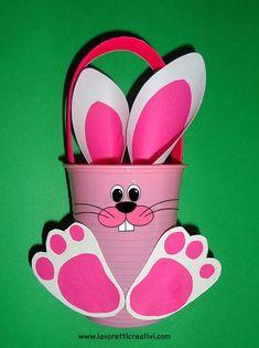 Lavoretti Pasqua - Cestino Pasquale per bambini
