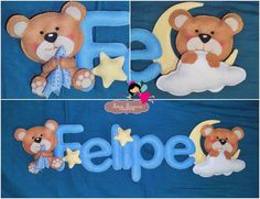 Mãos Mágicas Banner, Teddy Bear, Kids Rugs, Baby, Animals, Home Decor, Feltro, Tejido, Names