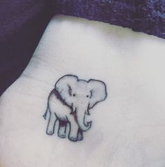 Cute little elephant tattoo all about elephants elephant tat Elephant Tatoo, Little Elephant Tattoos, Cute Little Tattoos, Elephant Tattoo Design, Pretty Tattoos, Beautiful Tattoos, Elephant Elephant, Ankle Tattoos, Up Tattoos
