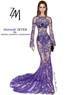 Hannah Jeter in ZUHAIR MURAD at American Music Awards 2016. #digitaldrawing by David Mandeiro Illustrations ==================================== #zuhairmurad #HannaJeter #AMAs #AMA2016 #Wacom #digitalart #AdobePhotoshopElementsEditor #Wacomcreativeseurope