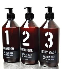 Love this shampoo, conditioner, and body wash. Used it at the Ace Hotel while we were in Seattle! Skincare Packaging, Beauty Packaging, Wash Out Hair Dye, Shampoo Bottles, Layout, Face Hair, Packaging Design Inspiration, Barber Shop, Body Wash