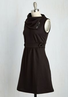 Coach Tour Dress in Noir. Sometimes a dress is so magical, it makes you long for somewhere special and new to wear it. #black #modcloth