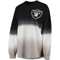 557a05ef0f8 Women s Oakland Raiders NFL Pro Line by Fanatics Branded Black Silver  Spirit Jersey Long Sleeve T-Shirt