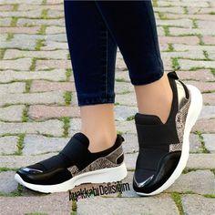 Alarik Yılan Siyah Spor Ayakkabı #sneakers #black
