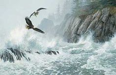 """Storms:  """"Storm Riders,"""" an original painting by Persis Clayton Weirs."""