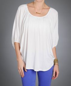 Super cute dolman top - dress it up with jewelry