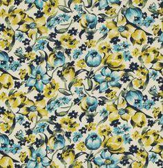 Denyse Schmidt, Shelburne Falls Dress Floral Willow - $10.60/yard