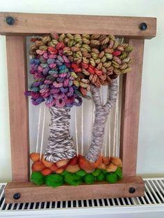 Weaving Art, Weaving Patterns, Tapestry Weaving, Embroidery Art, Textile Art, Fiber Art, Art Projects, Diy And Crafts, Art Pieces