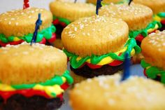 Hamburger Cupcakes Kawaii Food Blog