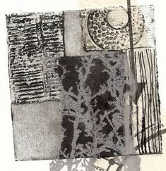 Sue Brown Printmaker: COLLAGRAPH TRAILS - combine collagraph prints with gum arabic transfers in gold and silver ink. Collagraph Printmaking, Contemporary Printmaking, Gelli Printing, Art Techniques, Collage Art, Fiber Art, Abstract Art, Illustration Art, Textiles