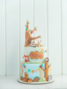 Belle and Boo Fondant Decorated Cake Cottontail Cake studio