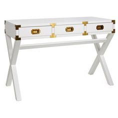 Check out this item at One Kings Lane! Vienne Campaign Desk, White