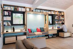 Calliope, modular bookcase by Sami Ben Jebria from Eyden Design Small Apartment Design, Home Office Design, Home Interior Design, Design Lounge, Sofa Design, Design Design, Design Living Room, My Living Room, Home Decor Furniture