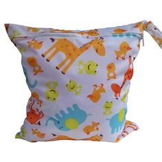 Waterproof Cheeky Monkeys Large Zip Dry /& Wet Bag Baby Cloth Nappies