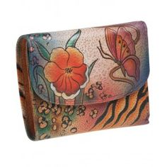 Arata-i cum poate iesi in evidenta in mod elegant, printr-un  cadou de majorat pentru fete unicat, un portofel compact trifold din piele, Anuschka