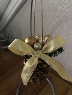 Beautiful Pine cone tree ornament.