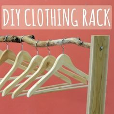 A DIY clothing rack - for under $10! awesome if i could customize it for farmers market...