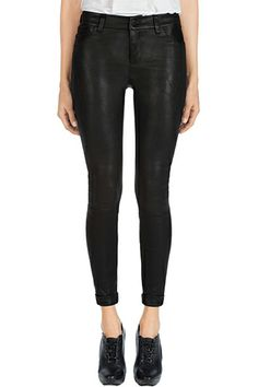 Cuffed? Cropped? COVETING! The J Brand L8020 Anja Leather pants are so cute and fresh looking!