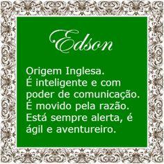 Significado do nome Edson   Significado dos Nomes