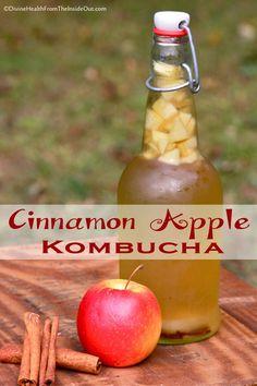 Cinnamon Apple Kombucha Kombucha Flavors, How To Brew Kombucha, Probiotic Drinks, Kombucha Tea, Flavored Kombucha Recipe, Kombucha Probiotic, Kombucha Brewing, Vodka Recipes, Homebrewing