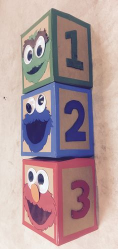 Sesame Street building blocks second birthday