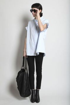 Fall '12 wardrobe inspiration: clean and simple, playing with proportions